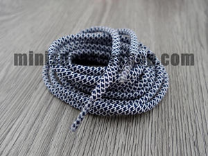 Trainer laces - 3M - White Black