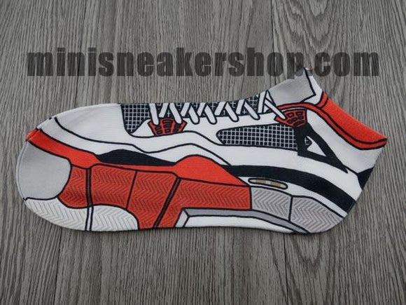 sneaker socks - jordan 4 - Fire Red