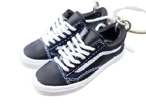 Mini 3D sneaker keychains VANS Skate Low Black and White OG