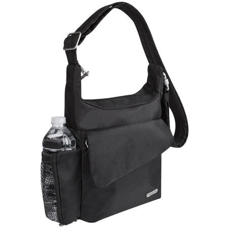 Anti-Theft Messenger Bag Black