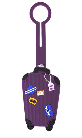 Classic Luggage Tag - Purple Luggage