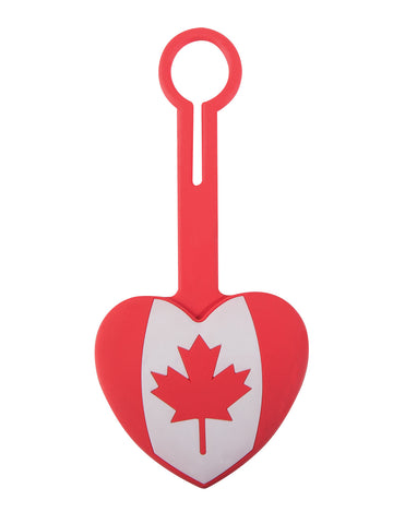 Canada Heart Luggage Tag
