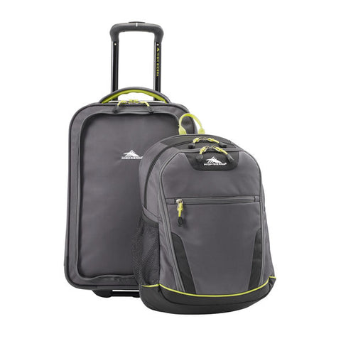 High Sierra Break Out Carry-on Wheeled Duffle with removable DayPack