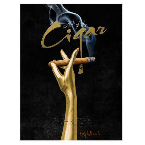 """Art of the Cigar"" Retro Pin Up Paper Giclee"