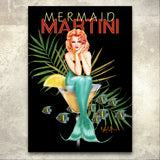 """Mermaid Martin Pin Up"" Signed canvas giclee by Ralph Burch - ralphburch.com"
