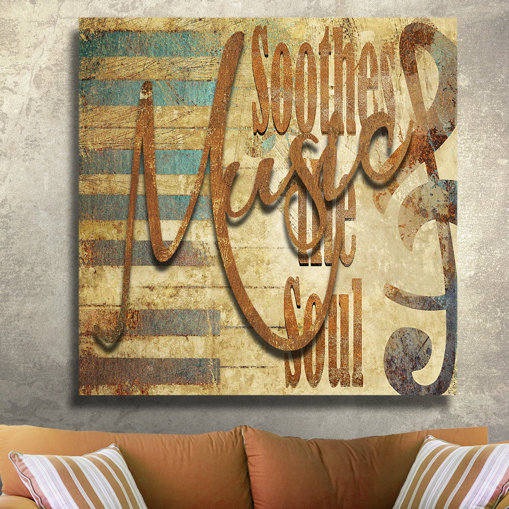 3D MUSIC SOOTHES THE SOUL METAL WALL ART – Ralph Burch