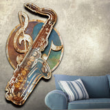 BLUES SAX METAL WALL ART 48 INCHES  BY 36  INCHES by Ralph Burch. RalphBurch.com