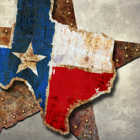 TEXAS DIMENSIONAL METAL WALL ART 24 INCHES BY 24 INCHES