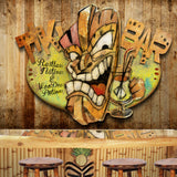Tiki Bar Metal Wall Art Sculpture