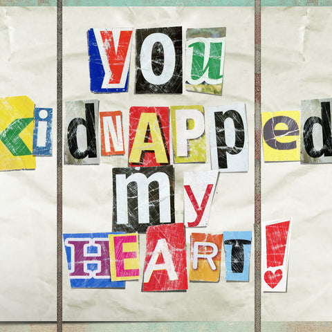 Romantic Kidnapped My Heart Metal Wall Art Triptych
