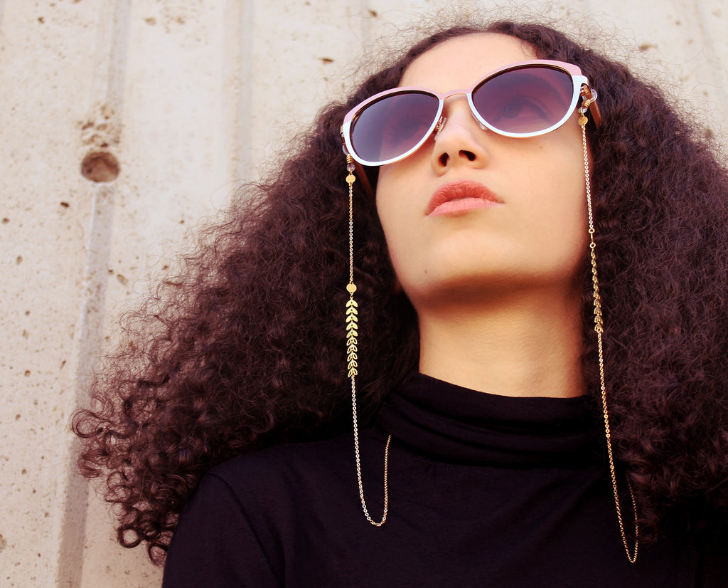 Modern glasses chains, lanyards and mask chains - Made by hand by Neawear