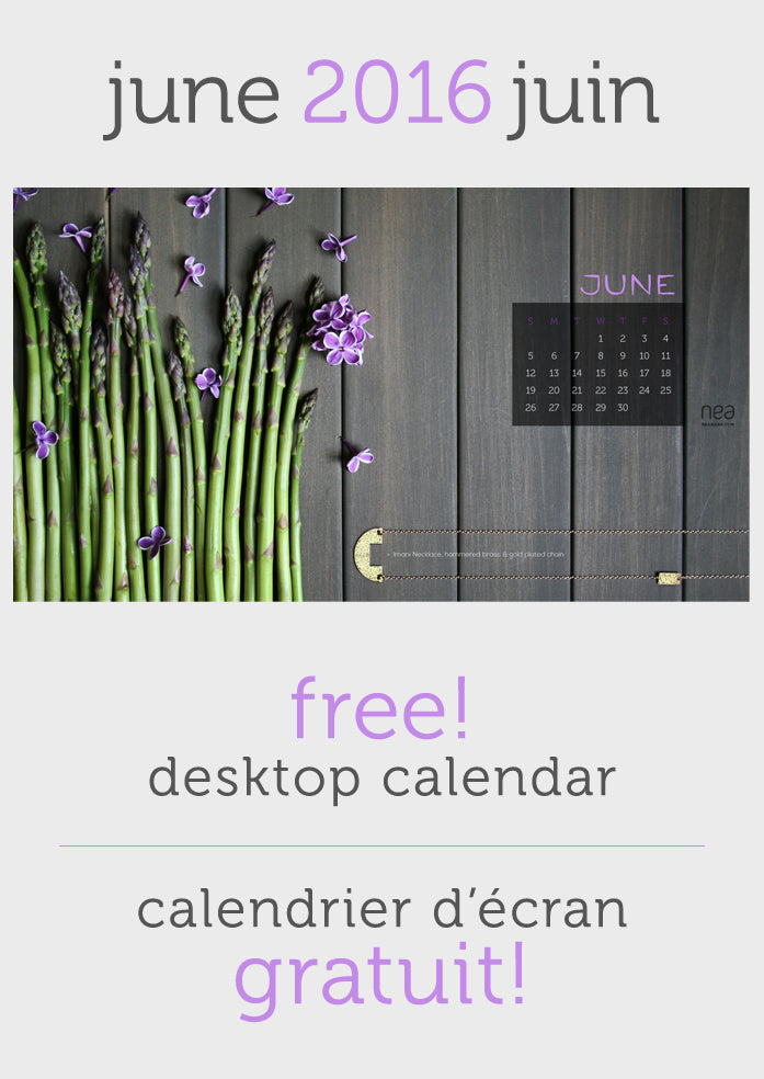 Free June 2016 Desktop Calendar