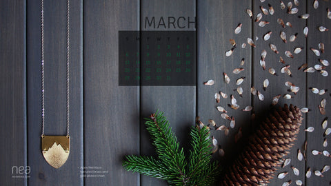 Free March 2016 Desktop Calendar