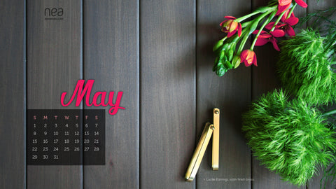 Free May 2016 Desktop Calendar