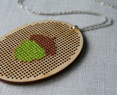 Acorn Necklace - Nea - 3