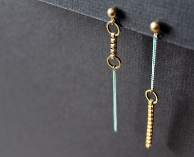Jillian Earrings Asymmetric Mint