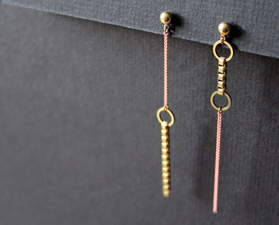 Jillian Earrings Asymmetric Pink