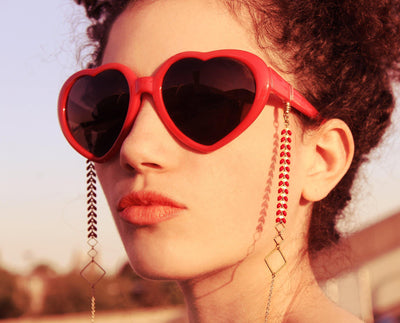 Kalea Sunglasses Chain Pink
