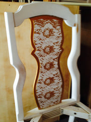 lace dining chair makeover