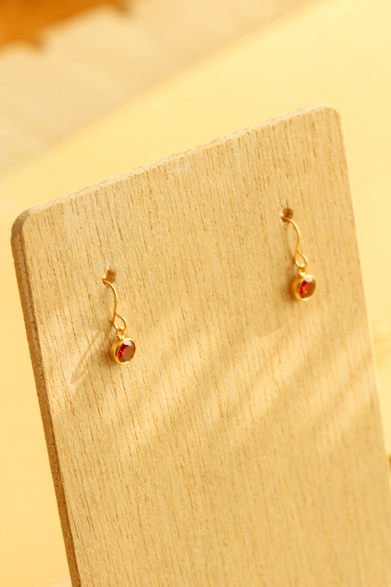 lanza birthstone earrings