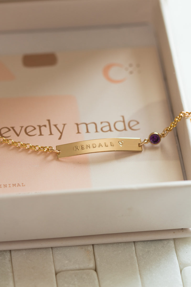 Baby Bracelet with Birthstone