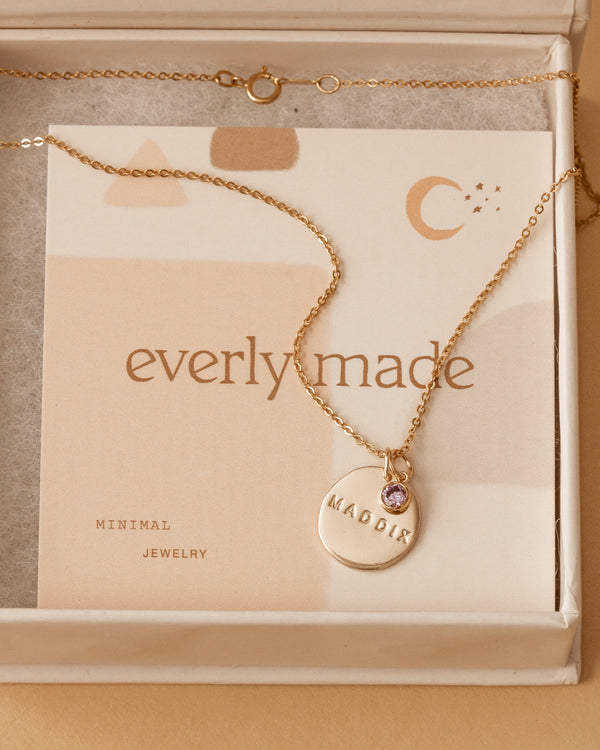 carter necklace • personalize with birthstone