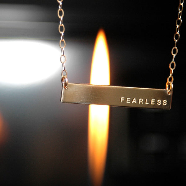 FEARLESS | Classic Bar Necklace