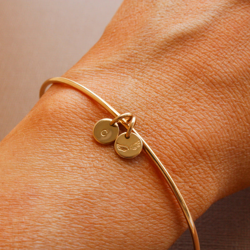 Adjustable Bangle Charm Bracelet