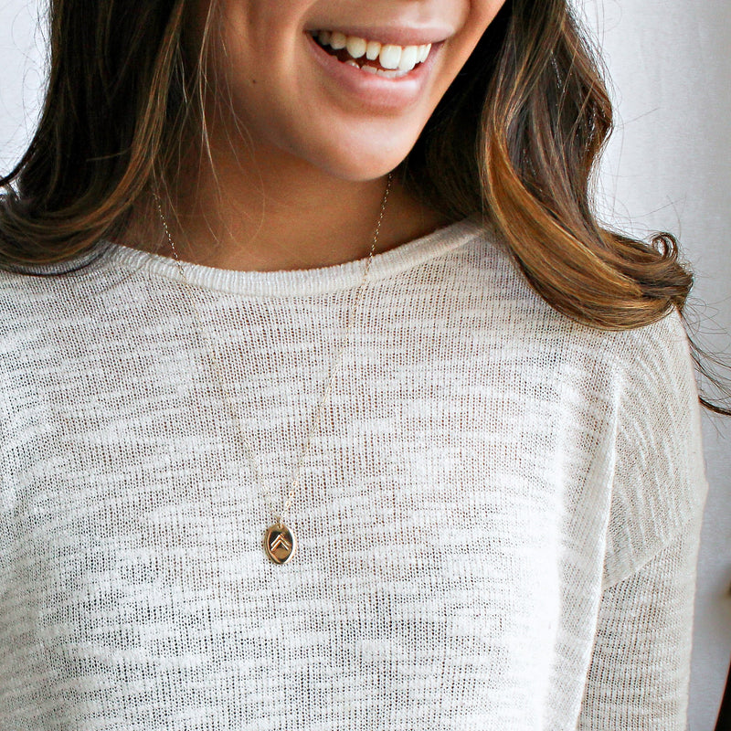 This classic necklace is the perfect compliment to any boho or minimalist style.