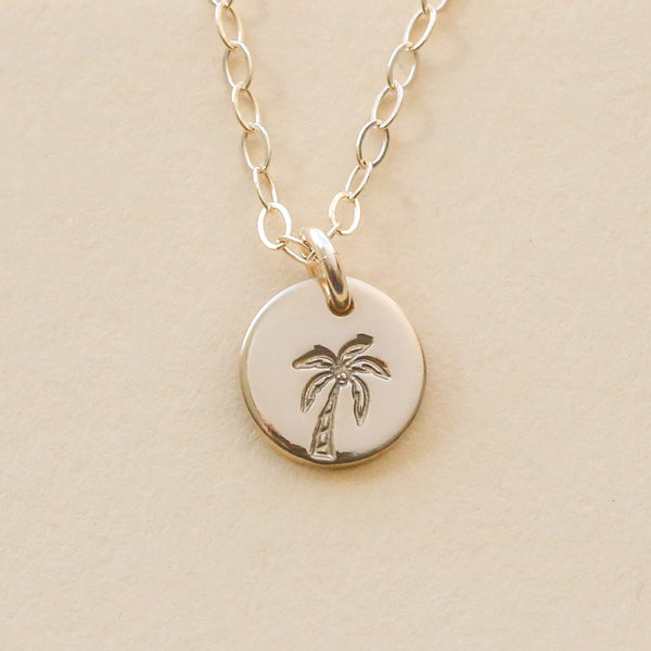 Palm Tree Necklace - 3/8""