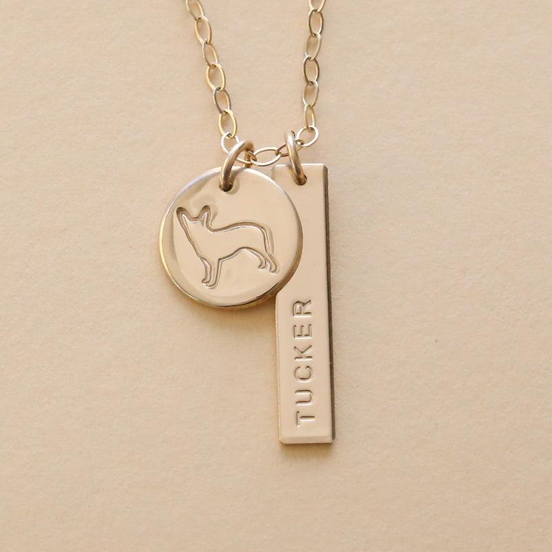 Personalized Australian Cattle Dog Necklace