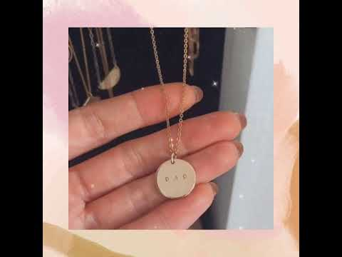 coin necklace - 5/8""