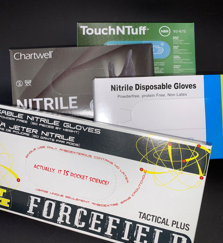 Nitrile Gloves Medium 100's