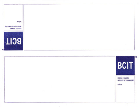Blue Logo Tent Cards