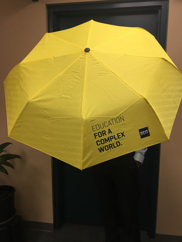 BCIT Yellow Auto Open Umbrella