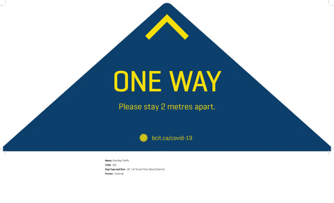 One Way Traffic Decal