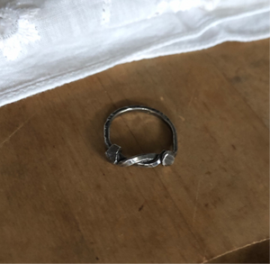 Sterling Silver Hammered and Tied Ring size 5