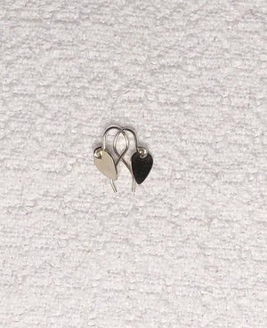 Sterling Silver Guitar Pick Dangle Earrings