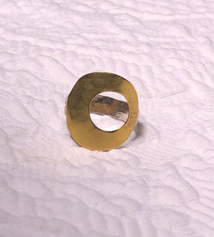 Brass, and Silver fused Ring size 4.25
