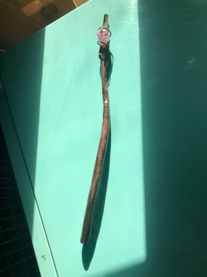 Hammered Copper with Sterling Silver & Amethyst Magical Wand 9.5 inches