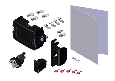 Roll Rite 10914 Electric Kit. With 10698 12V Relay and Rocker Switch - Roll Off Trailer Parts