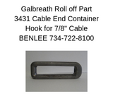 GALBREATH 3431 - Cable Hook - Roll Off Trailer Parts