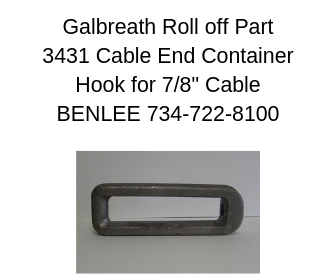 GALBREATH/GALFAB 3431/PP341 Cable Hook