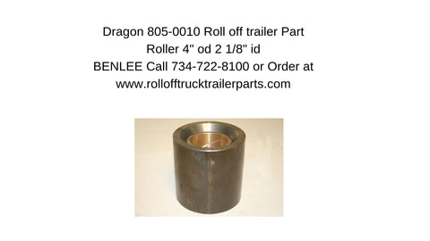 "Dragon 805-0010 Roller 4 inch OD, 2 1/8""  inch ID shaft"