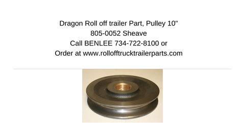 "Dragon 805-0052 10"" Pulley"