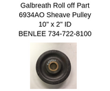 "GALBREATH 6934AO - Sheave Pulley 10"" w/2"" Bronzed Bushed Center"
