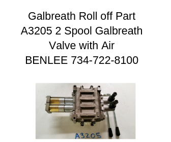 Galbreath A3205 - Valve, 2 Spool with Air