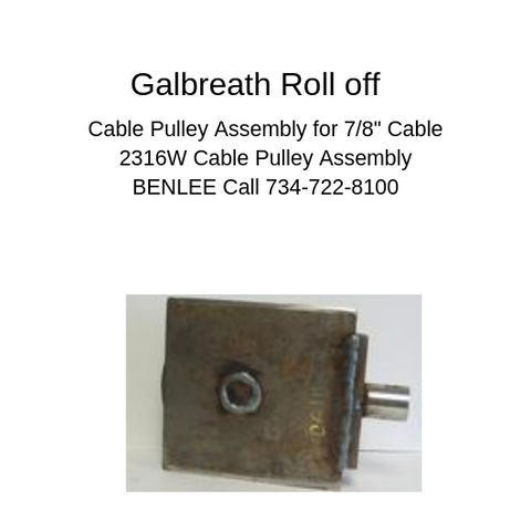 "Galbreath 2316W - Cable Pulley Assembly for 7/8"" Cable"
