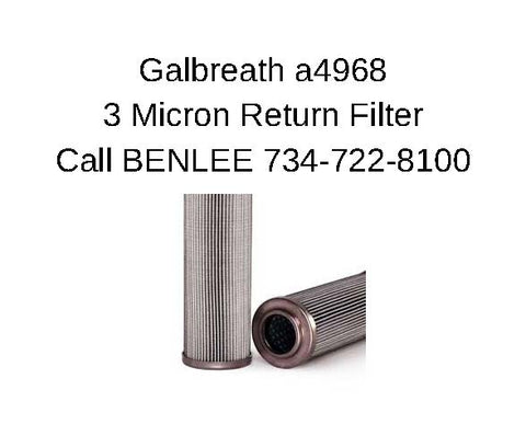 Galbreath A4968 - 3 Micron Return Filter