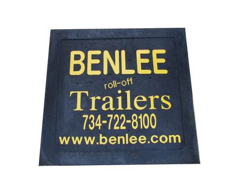 BENLEE Mud Flap - 24 inch x 17 inch - Roll Off Trailer Parts